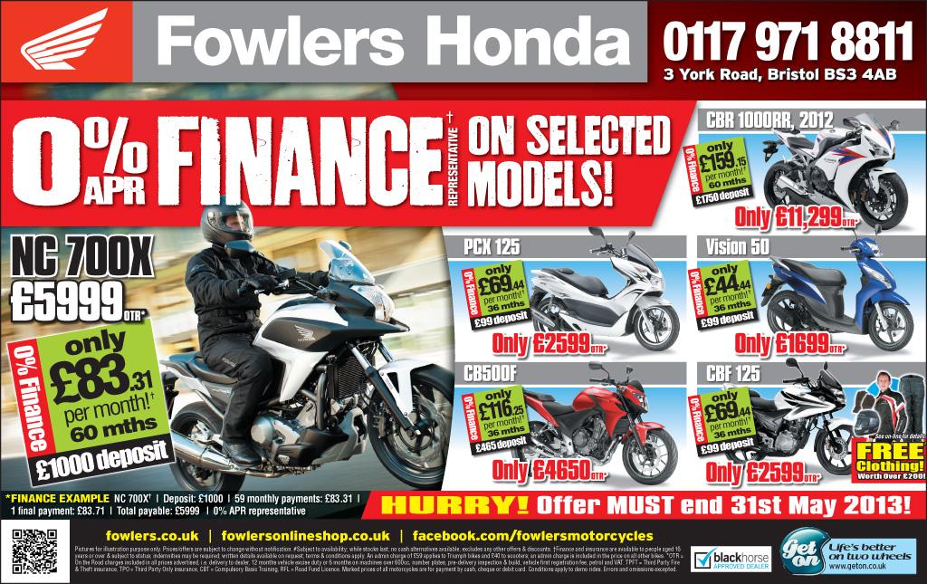 Bristol Post Honda 14 May 2013