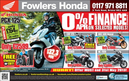 Bristol Post Honda 28 May 2013