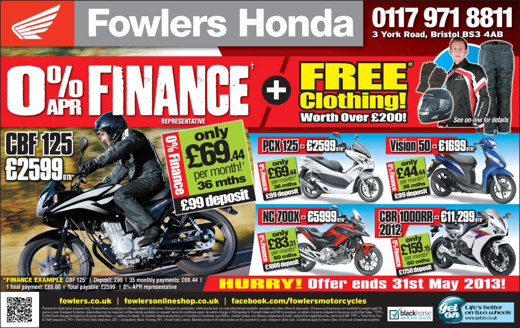 Bristol Post - Honda - 30 april 2013