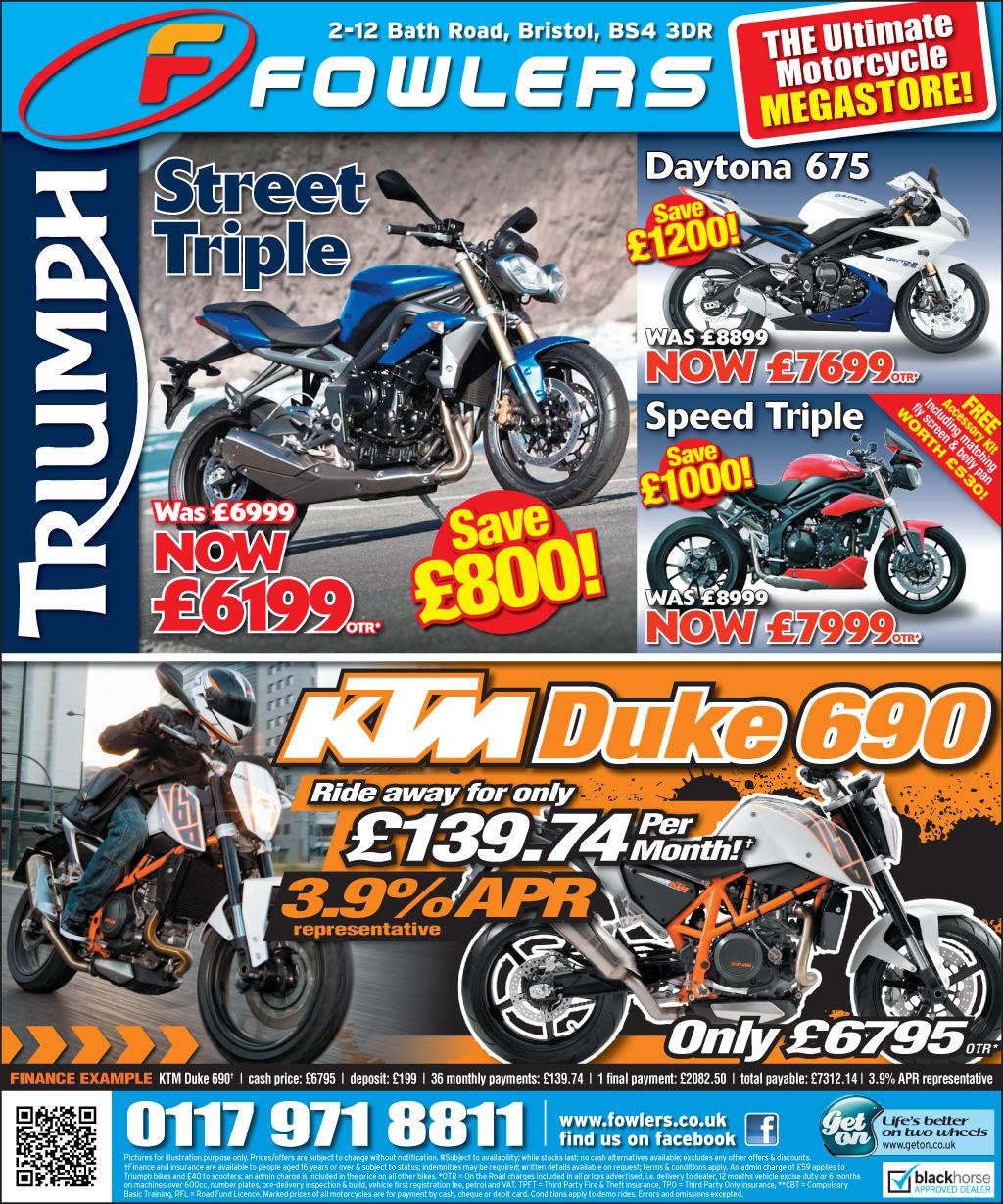 Bristol Post KTM Triumph 14 May 2013