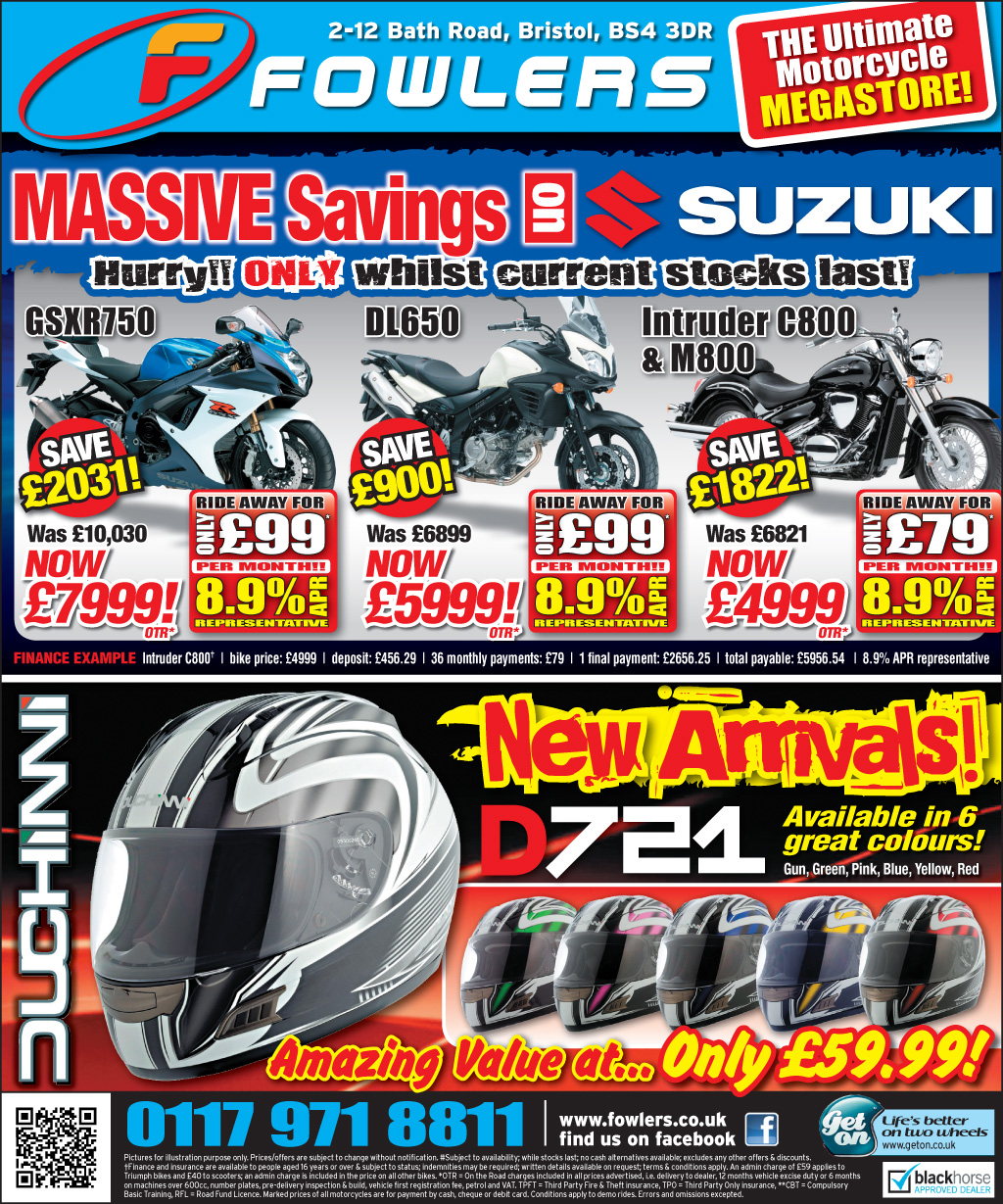 Bristol Post Suzuki 7th May 2013