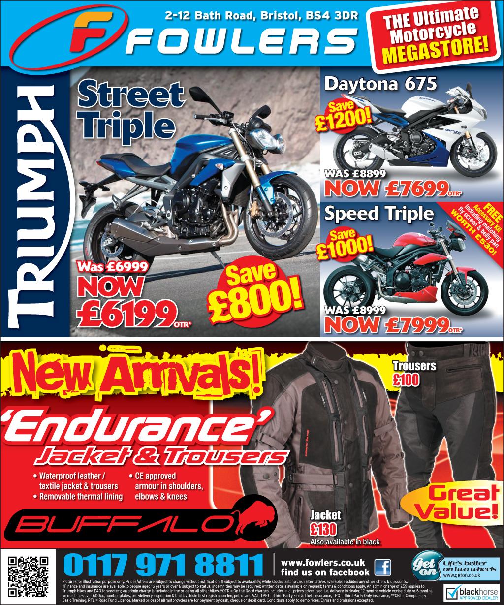 Bristol Post Triumph 21st May 2013