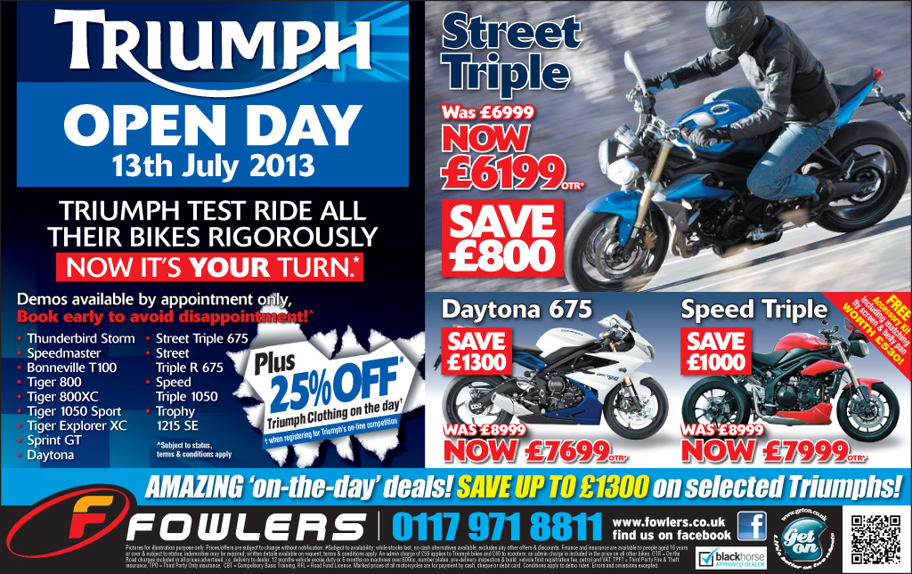 Bristol Post Triumph Open Day 04 Jun 2013