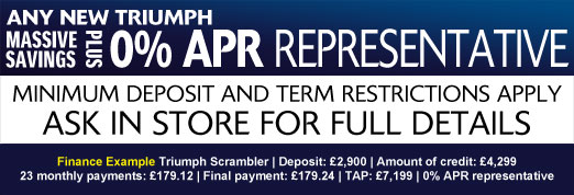 Triumph 0% APR Representative