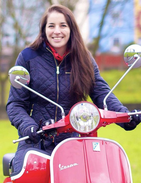 Fowlers Scooter Story - Woman on Vespa