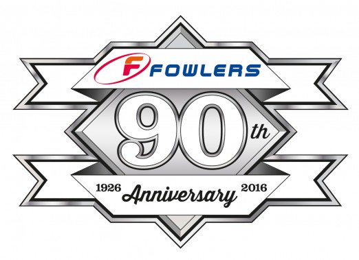 Fowlers 90th Logo