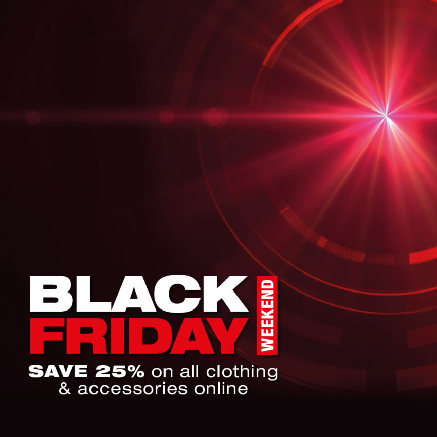 SAVE 25% on all clothing and accessories online until midnight on Monday 30/11/20