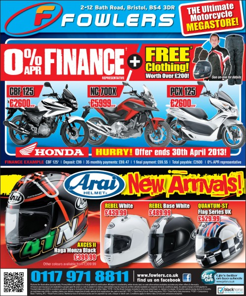 Bristol Post Honda Arai 26 April 2013