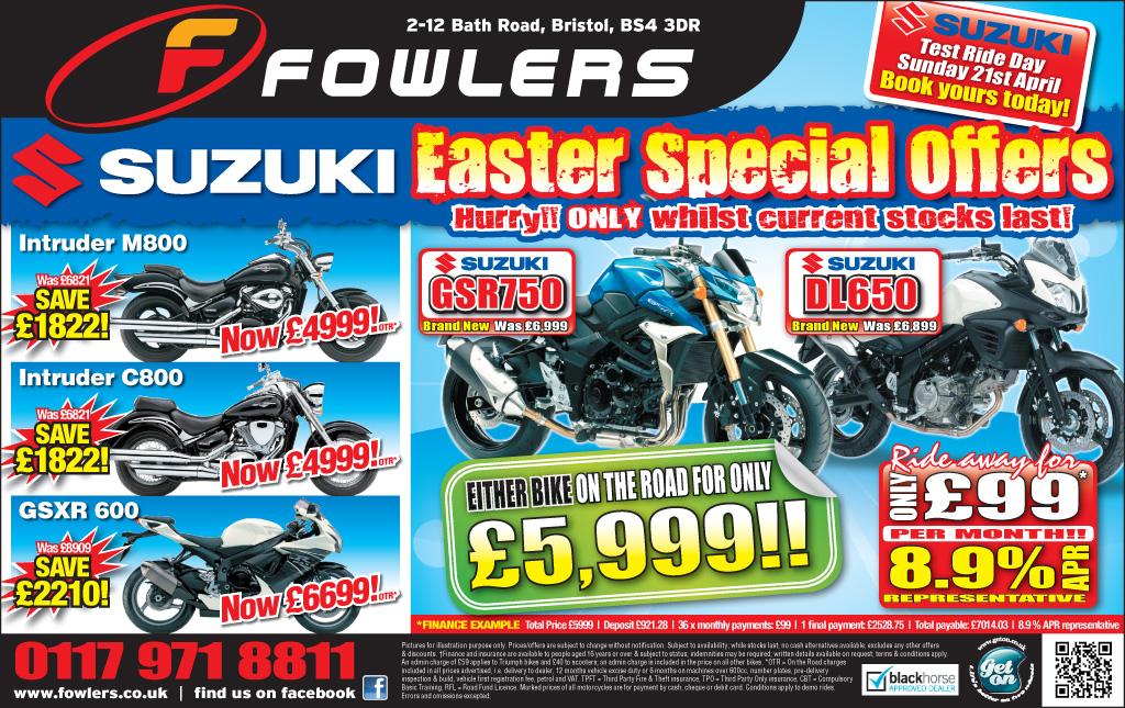 Bristol Post Suzuki 26th March 2013
