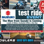 Bristol Post Suzuki Test Ride 19th March 2013