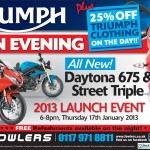 Bristol Post Triumph Launch 31 Dec 2012