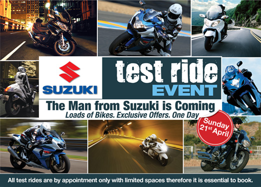Suzuki Test Ride Event