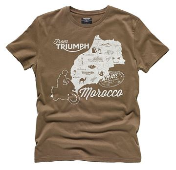 Picture of TRIUMPH MAP MOROCCO T-SHIRT