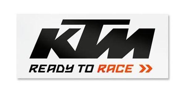 Picture of KTM LOGO STICKER WHITE/ORANGE