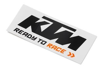 Picture of KTM LOGO STICKER BLACK/WHITE