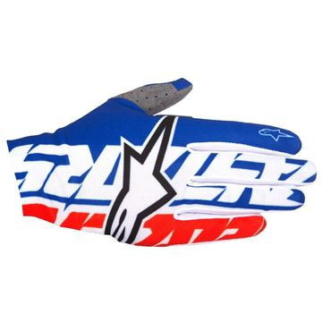 Picture of ALPINESTARS DUNE 17 GLOVES BLU/RED/WHT
