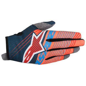 Picture of ALPINESTARS RADAR TRACKER 17 GLOVE AQUA/ORG