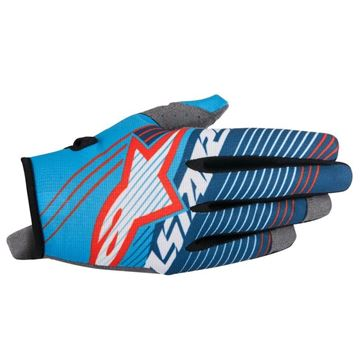 Picture of ALPINESTARS RADAR TRACKER 17 GLOVE CYN/WH/BL
