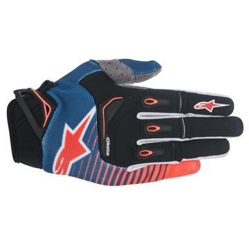 Picture of ALPINESTARS TECHSTAR 17 GLOVES BLU/ORG/WHT