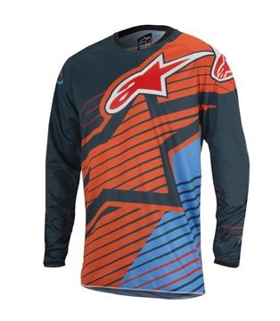 Picture of ALPINESTARS YOUTH RACER BRAAP 17 JERSEY AQU/ORG