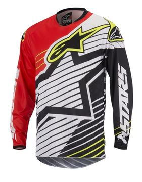 Picture of ALPINESTARS YOUTH RACE BRAAP 17 JERSEY RD/W/BK