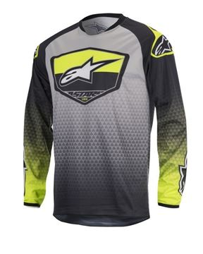 Picture of ALPINESTARS YOUTH RACE SUPERMATIC JERSEY FLO/GRY