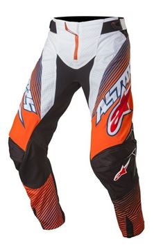 Picture of ALPINESTARS TECH 17 FACTORY PANT ORG/BLU/WHT