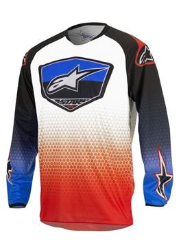 Picture of ALPINESTARS RACERSUPER 17 JERSEY RE/BL/WT