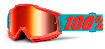 Picture of 100% ACCURI GOGGLES MIRROR PASSION ORANGE RED LENS