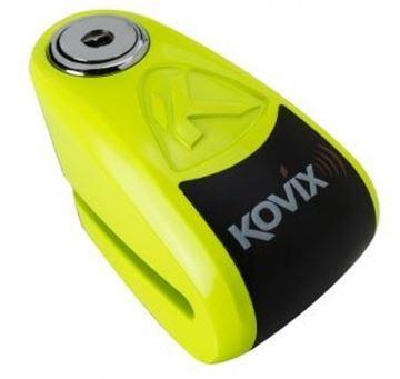 Picture of KOVIX 10mm ALARM DISC LOCK FLUO GREEN