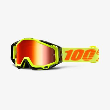 Picture of RACECRAFT GOGGLES ATTACK YELLOW M/RED LENS