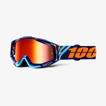 Picture of RACECRAFT GOGGLES CALCULUS NAVY M/RED LENS