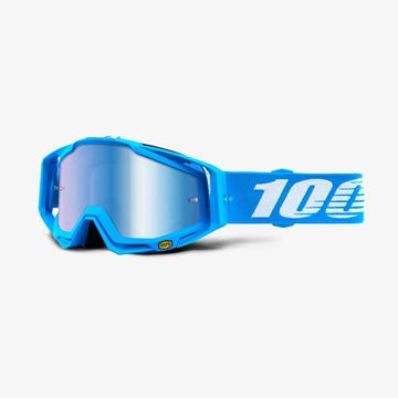 Picture of RACECRAFT GOGGLES MONOBLACK M/BLUE LENS