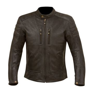 Picture of MERLIN DRAYCOTT LEATHER JACKET - 2 COLOURS
